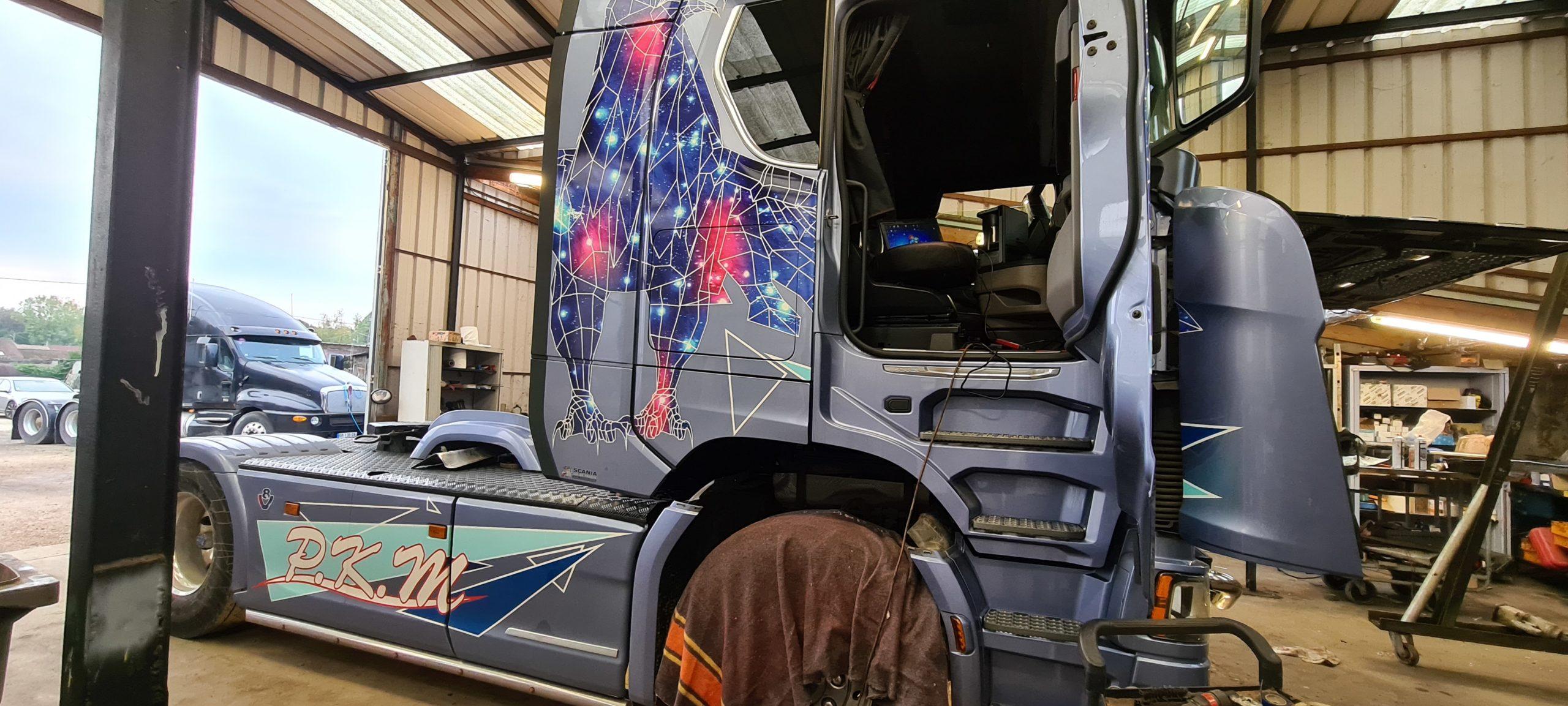 Echappement libre Scania S580
