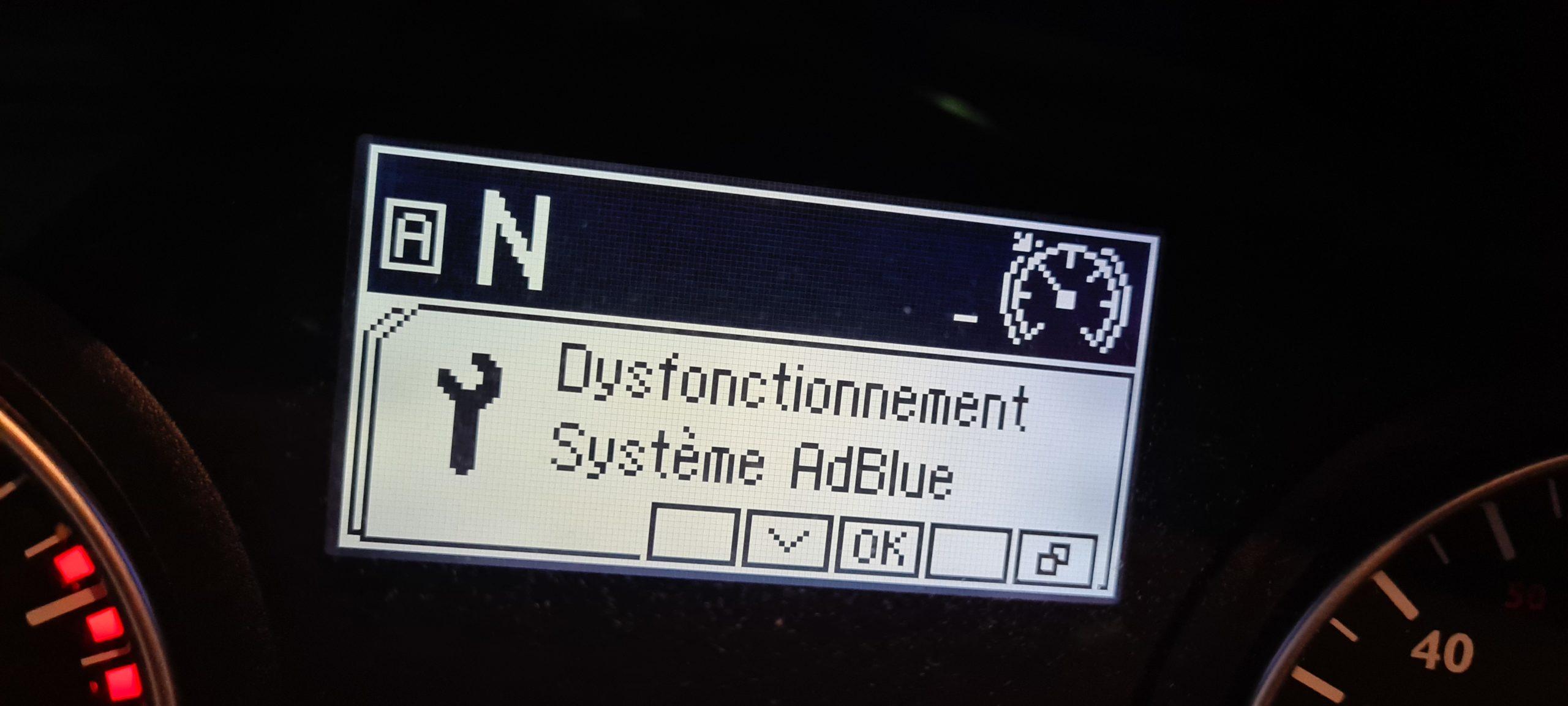 Dysfonctionnement système Adblue Man