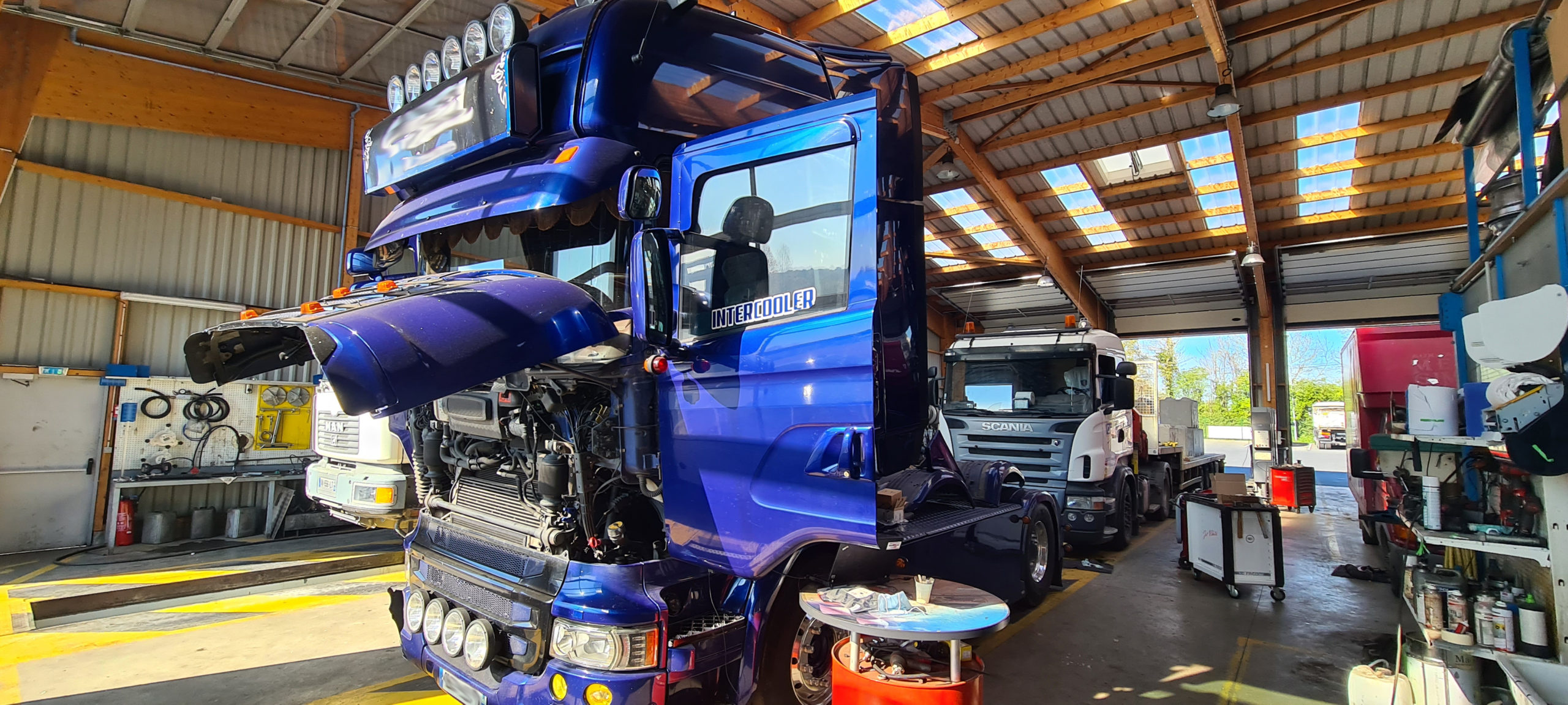 Problème de FAP Scania Euro 6 passage échappement libre R520 V8