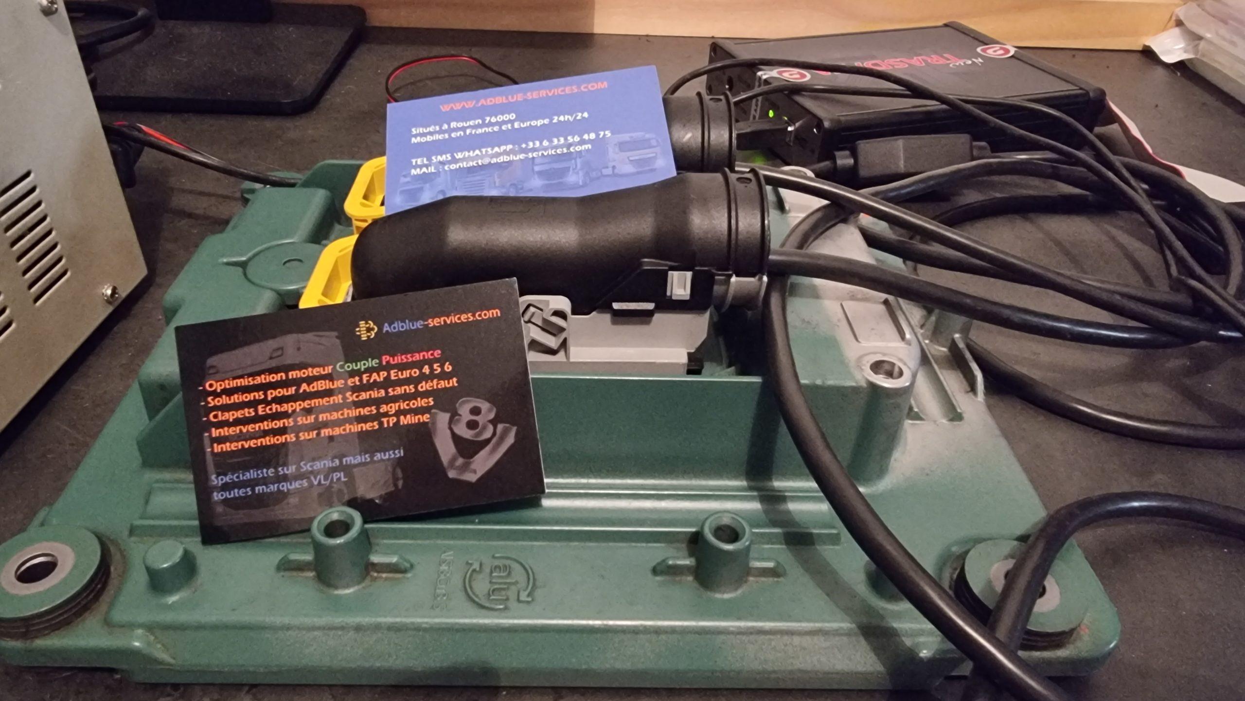 Reprogrammation Volvo FH16 750, avec programmation Adblue, FAP et EGR