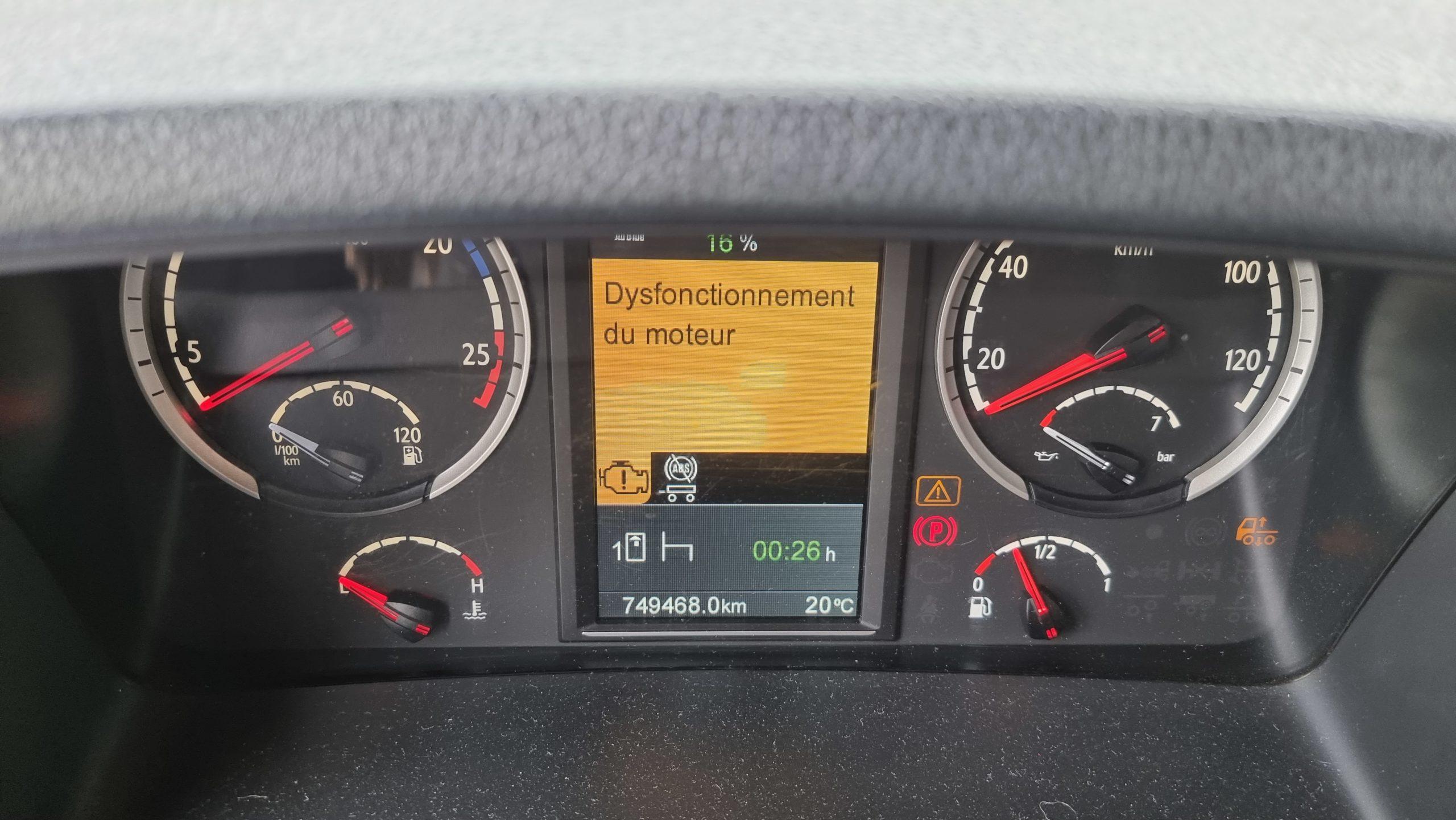 DPF Error Scania R580 V8